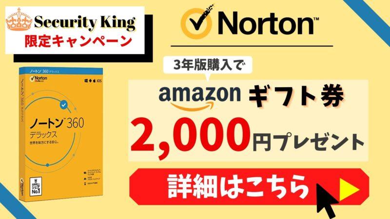 【限定コラボキャンペーン】ノートン購入でAmazonギフト券プレゼント